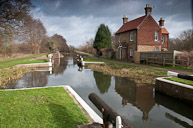 Lock keepers house on the River Wey