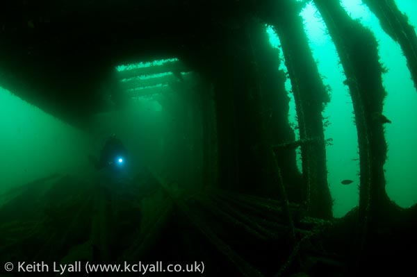 Diver in SS James Egan Layne